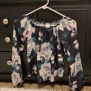 Women's Charlotte Russe Off The Shoulder Size XS
